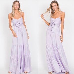 Beautiful Lavender Ruffle Maxi Dress!